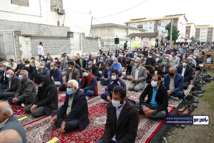 Negar ۲۰۲۱۰۵۱۳ ۱۸۲۵۱۵ - گزارش تصویری اقامه نماز عید سعید فطر در شهرستان رودسر