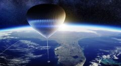 بالن فضایی مسافران را به فضا می برد