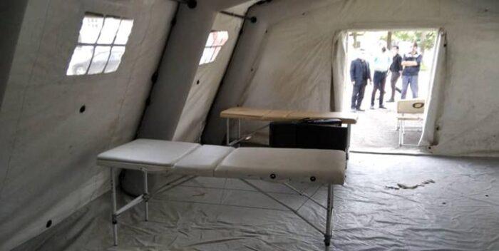بیمارستان صحرایی 1 700x352 - بیمارستان صحرایی ارتش در بیمارستان رازی رشت احداث شد
