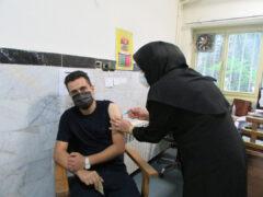 واکسیناسیون کرونا خبرنگاران لاهیجان انجام شد + تصاویر